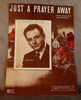 WWII 1944 JUST A PRAYER AWAY Sheet Music JOHN GART