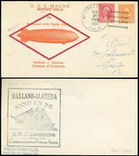 2/20/34 USS MACON Maneuvers, Pacific Flt, Oak-Ala, USS CONSTITUTION, CLYDE WELCH