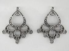 6 CONNECTEURS 5 RANGS en métal couleur argenté,perle,fimo,apprêt-co008