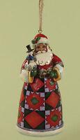 Heartwood Creek Hanging Tree Decoration Santa & Snowman Ornament