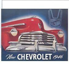 1946 CHEVROLET PASSENGER CAR SALES BROCHURE