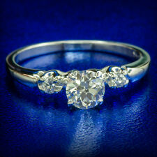 0.58 ctw VS1 NATURAL DIAMOND ENGAGEMENT PROMISE WEDDING RING 14K WHITE GOLD