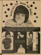 1974 Donny Osmond Lets You Read His Mind Clippings Short 2 Page Article Print