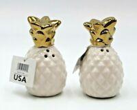Pineapple Salt and Pepper Shaker Set New White Ceramic Farmhouse Home Decor Gift