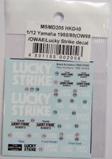 1/12 YAMAHA YZR500 Lucky Strike Decal for Hasegawa OW98 or OWA8 1988/1989