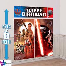 Star Wars Party Supplies SCENE SETTER Back Drop Episode VII Genuine Licensed