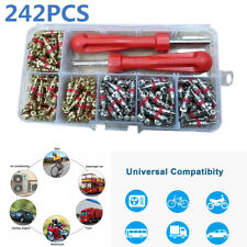 242Pcs R134a Car A/C Air Conditioning Tire Valve Cores Air Con Remover Tool Set