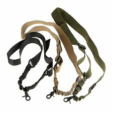 One Single Point Rifle Gun Sling Strap Adjustable Quick Release Swivels Straps