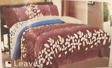 New 3 Pc set Borrego Sherpa Blanket  Elegant Design size King