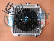 For SUZUKI SIERRA Radiator+Fan+Black hoses 1.0 1.3 SJ410/413 1981-1996 Alloy MT