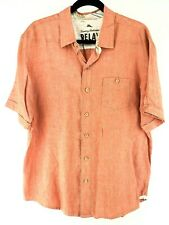 Tommy Bahama Relax Size L Linen SS Shirt Chest 45""