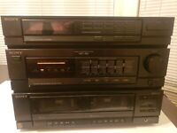 Sony HST-190 Stereo Component System TESTED AND both Tape WORKING NO REMOTE