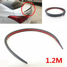 1.2M Universal Black Soft Car Rear Roof Trunk Spoiler Rear Wing Lip Trim Sticker