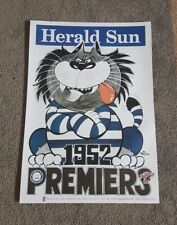 1952 GEELONG CATS PREMIERSHIP WEG POSTER LIMITED EDITION OUT OF 1000