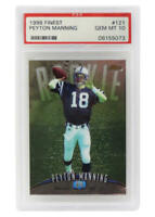Peyton Manning 1998 Topps Finest Football #121 RC Rookie Card - PSA 10 GEM MINT
