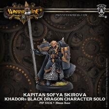 Khador Kapitan Sofia Skirova Black Dragon Solo PIP33126