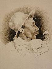 Ottorino CARACCIOLO (1855-1880) Miniature 1877 né à Bari Italie impressionnisme