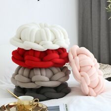 New Knitted Round DIY Sofa Bed Pillow Home Office Waist Throw Cushion Car Decor