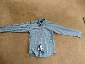 New BROOKS BROTHERS fleece Boys' Size L Long Sleeve Non Iron Dress Shirt $60