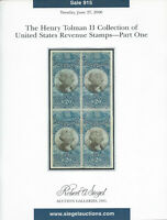 Henry Tolman, U.S. Revenue Stamps, Robert A. Siegel, Sale #915, June 27, 2006