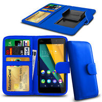 Clip On PU Leather Flip Wallet Book Case Cover For Wiko Rainbow Jam