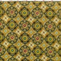 HOLIDAY: ANTONELLA VINTAGE GOLD Cotton Print by Hoffman Fabrics BTY