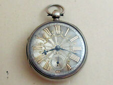J WILLIAMS CARMARTHEN Victorian antique XIX cent men's mechanical POCKET watch