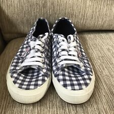 Men's Superga Low Top Shoes Size 8.5 Checked Great Condition
