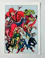 1978 Marvel Avengers poster 1: Captain America/Thor/Hulk/Iron Man/Black Panther