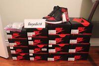 Air Jordan 1 Retro high og bred banned 2016 black red royal blue chicago receipt