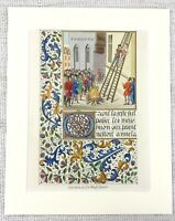 1844 Antique Print The Execution of Sir Hugh Spencer Berkley Castle Medieval