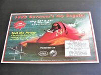 Governor's Cup Regatta -Feel the Power- 1998 Schedule of Events Photo Poster.