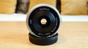 Olympus M.Zuiko Digital 17mm 1.8 - M43 MFT Micro Four Thirds  Lens - Silver