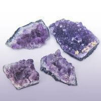 4 x Cluster Natural Amethyst Gemstone Crystal Quartz Healing Stone
