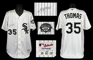 Frank Thomas Signed Authentic 2000 Chicago White Sox Game Used Jersey JSA COA