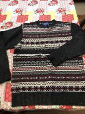 Pendelton Mens Virgin Wool Crew Neck Knit Sweater  Size S print!