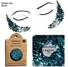 Glitter für Gesicht Körper Haare GL05 metallic blau