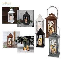 Laterne aus Metall mit LED Kerze, Laternenkerze versch. Designs, Flackerlicht