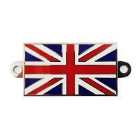 Union Jack Metal Badge With Screw Holes For Classic Cars Motor Bike UJB001