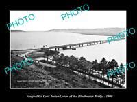 OLD LARGE HISTORIC PHOTO OF YOUGHAL CORK IRELAND, THE BLACKWATER BRIDGE c1900