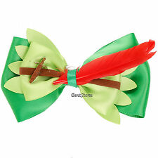 Disney Peter Pan Sword Bow Tie Hair Clip Pin Feather Cosplay Dress Up Costume