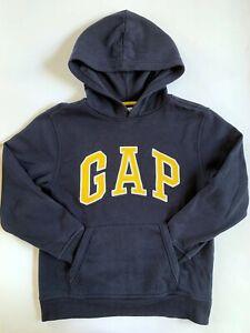 GAP KIDS Boy's Size XL Navy Yellow Logo Hoodie EUC
