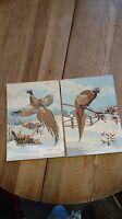Paint by Number Painting PAIR Pheasant Bird HUNTING Pheasant flea market