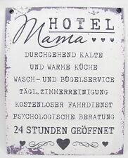 """Metall-Schild """"Hotel Mama"""" 19x24 cm*Deko*Metallschild*Dekoschild*Shabby"""