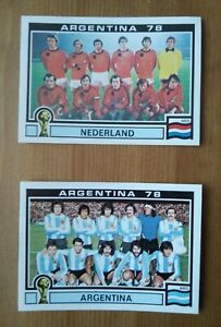 Panini World Cup Story ARGENTINA 78 équipe Hollande et Argentine
