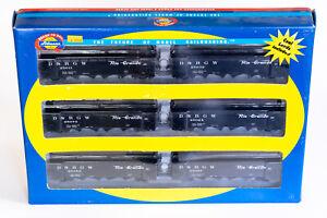 HO Athearn RTR Rio Grande 40' Quad Hopper 6-Pack w/ Coal Load D&RGW 91163