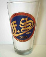 Pint Beer Glass THE FLYING SAUCER 2008 Commemorative HTF