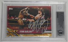 Finn Balor Signed 2017 Topps WWE NXT Matches & Moments 1/1 Red Card BAS COA Auto