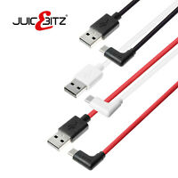 JuicEBitz® ANGLED USB A to TYPE C Charger Cable for Samsung TAB A7 A S7 S6 S4 S3