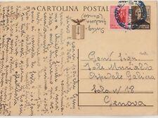 ITALIA 1945 RSI INTERO POSTALE PER GENOVA